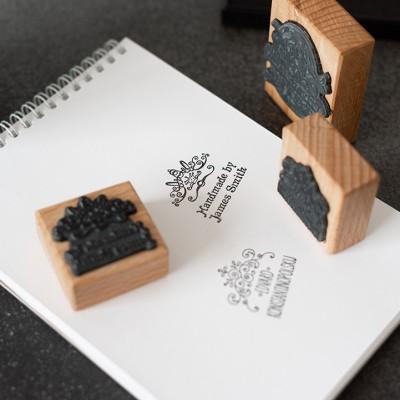 Печать на брусочке из бука