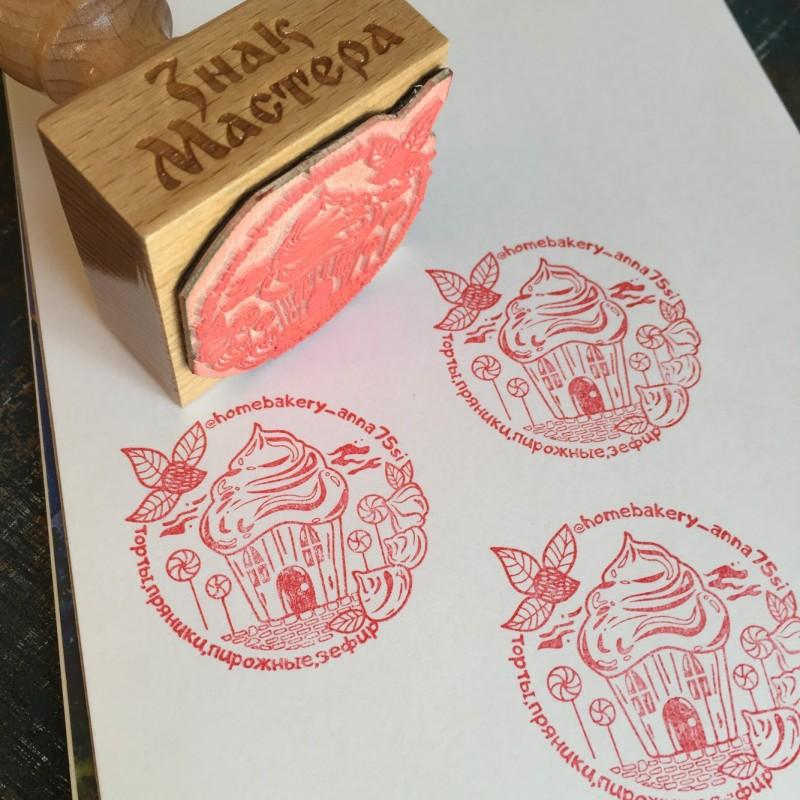 Печать кондитера для украшения упаковки капкейков