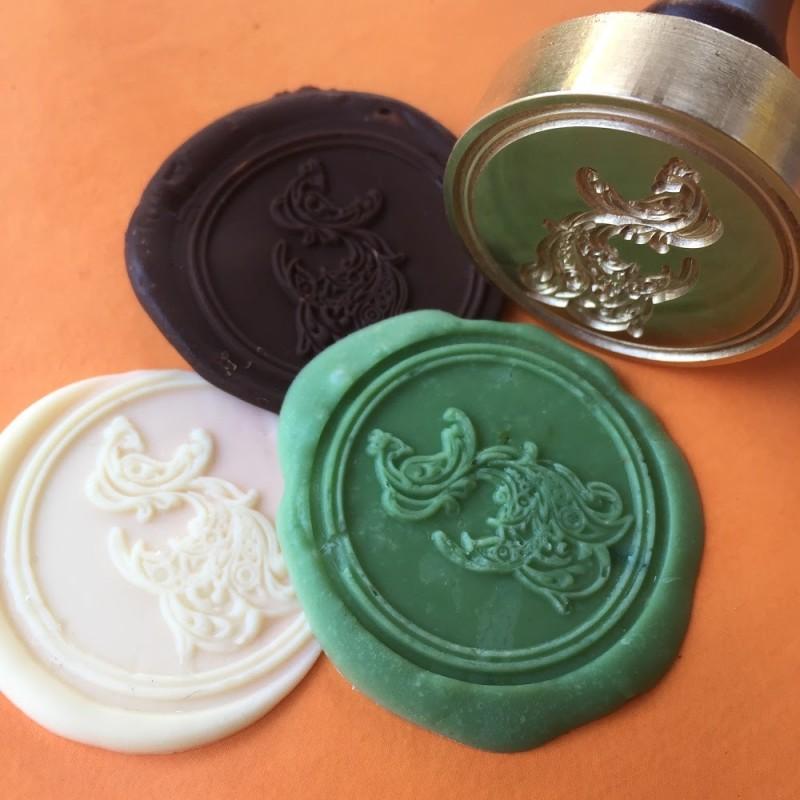 Печать для шоколада с индивидуальным логотипом