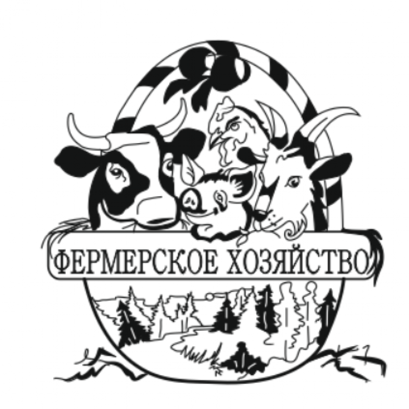 Макет логотипа фермерского хозяйства