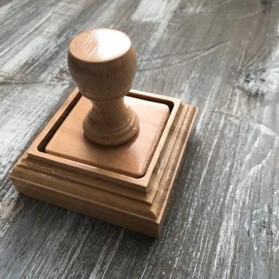 Печать с коробочкой 50 на 50 мм (без гравировки)