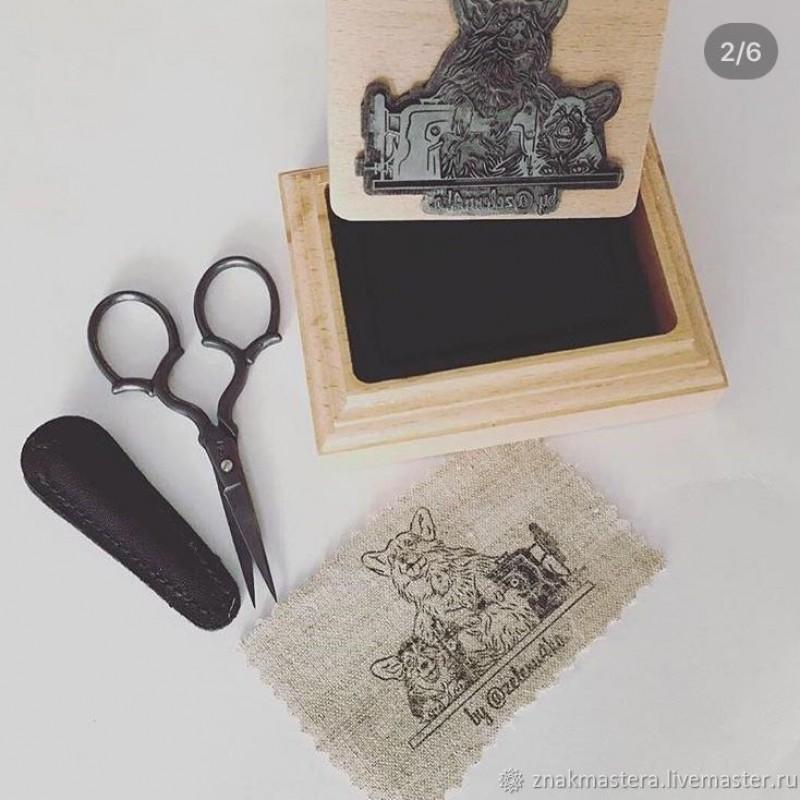 Печать логотипа на ткани водостойкими чернилами